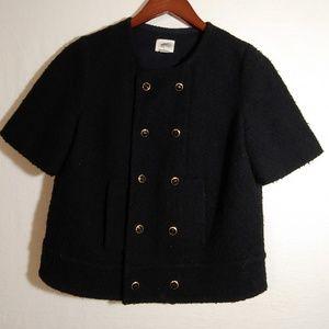 Anthropologie Idra tweed blazer sz 10 short sleeve